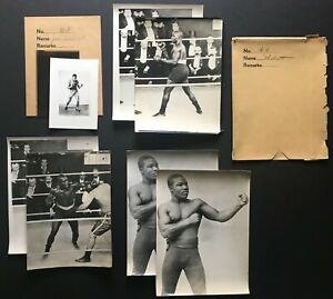 1900-10s Boxing Lot African American Jersey Joe Wolcott Negatives & Photos (8pc)