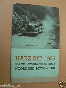 1936 HARZ-RIT 1936 9-10 MEI ,WERKMAN,VINK,ELEVELD,BAKKER SCHUT,SMELT,VRIES,DIKSC