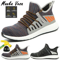 Men's Indestructible Construction Work Safety Shoes Steel Toe Cap Boots Sneakers