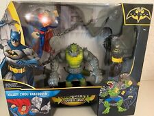 2012 Mattel Batman Killer Croc Takedown Figure Set Inc. Batman  & Superman