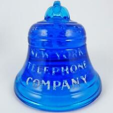 VINTAGE NEW YORK TELEPHONE COMPANY BELL SYSTEM ADVERTISING GLASS PAPERWEIGHT