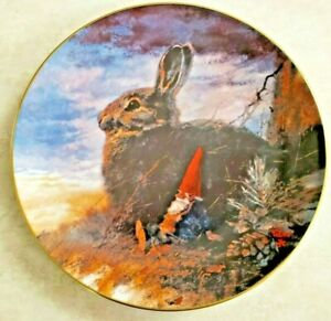 "Rien Poortvliet Collector Plate Gnomes Four Seasons Fall ""The Lookouts"""