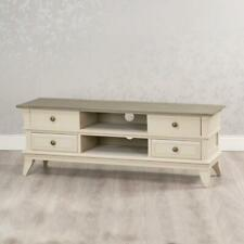 ANTIQUE STYLE COUNTRY CREAM WOOD TV TELEVISION STAND CABINET UNIT DRAWERS GB666