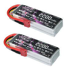 HRB 2Packs 2200mAh 3S LiPo Battery 11.1V 40C 50C Airplane Helicopter Drone Buggy