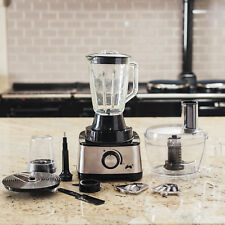 Ovation 1000W Food Processor Multi Function Blender Mixer Juicer Kit Large 2.5L