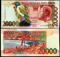 ST. THOMAS & PRINCE 20,000 20000 DOBRAS 1996 P 67 UNC