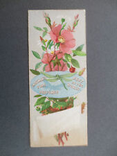 Antique BOOKMARK Advertising Eastman's Fine Perfumes T Sinclair & Son Litho OLD