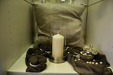 Kerzenwindlicht, Glas/Metall, Emform, Windlicht, Kerzenständer,