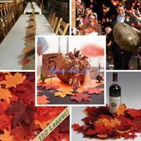 120 Fall Silk Leaves Wedding Favor Autumn Artificial Maple Leaf Decor Ornament