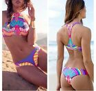 maillot de bain multicolore grande taille Bikini Set S/M/L/XL Push-Up femme