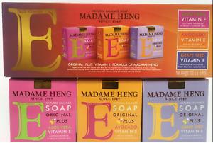 MADAME HENG PLUS VITAMIN E NATURAL BALANCE SOAP 150G X 3 BARS NEW USA