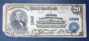 1902 $20 First National Bank of  Spartanburg Note  #1818