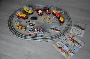 Lego Train 7735 Wagon 7817 + Moteur. Lot Vintage . Rails .