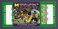1980 NCAA MICHIGAN ST SPARTANS @ MICHIGAN WOLVERINES FULL UNUSED FOOTBALL TICKET