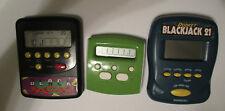 Blackjack Three Batterty Operated Handheld Games Radica & Radio Shack