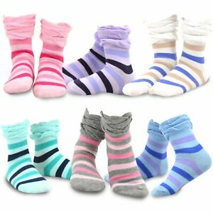 3 sizes 6-9,10-1 Pack of 4 pairs girls//teenagers 92/% cotton socks 2-5