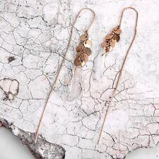 Fashion Long Earring Bohemia Ethnic turquoise Beads Feather Drop earrings