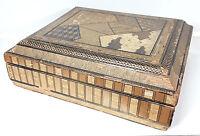 BOX JAPONESA.MADERA DE MARQUETERIE DE PAILLE. SIÈCLE XIX-XX.