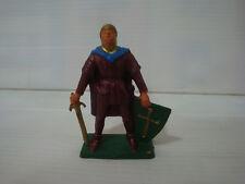 Figurine ancienne Starlux série moyen age choc - seigneur épée bouclier n°4