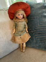 "Rare Antique Cabinet Size 14"" Sonneberg Wilhelm Dehler Doll For French Market"
