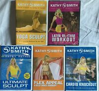 5 Kathy Smith workout DVD lot Matrix Method Ultimate Yoga Sculpt belly dance