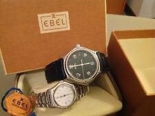 Lot 2 Ebel 1911 Man 9187241 + 1911 Lady  988901 Date Swiss Leather Case Box Tag