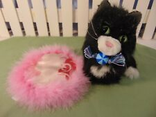 American Girl Retired Licorice Cat kitten w/ ball magnetic toy pillow 3pc GUC
