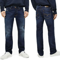 Diesel Herren Regular Straight Fit Stretch Jeans Hose Dunkel Blau - Larkee 082AY