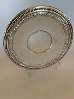 """Silverplate Reed & Barton Platter 10.5"""" Vintage Embossed Edge Great Condition"""