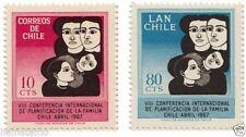 Chile 1967 #705-06 VIII Conferencia Planificacion de La Familia MNH