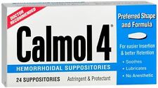 Calmol 4 Hemorrhoidal Suppositories 24 Each (Pack of 6)