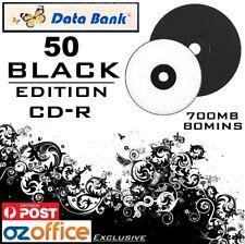 EXCLUSIVE 50 x Data Bank BLACK CD R 48X 700MB Blank CD Discs BLACK EDITION