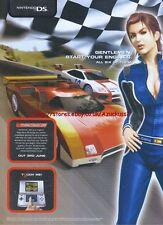"Ridge Racer DS ""Nintendo DS"" 2005 Magazine Advert #2872"