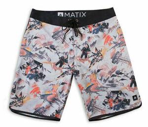 Matix Skate Streetwear Surf Shorts Pants Boardshort Atomic Natural IN 38