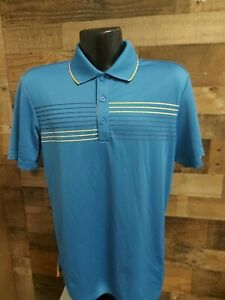 Adidas Golf Mens Small Blue Orange Gray Short Sleeve Golf Polo Shirt NWOT