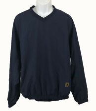 Foot Joy Fj Men's Long Sleeve Pull Over Polyester Golf Jacket Dark Blue Large