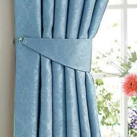 Damask Woven Blackout  Pencil Pleat Curtains in Seven Colours