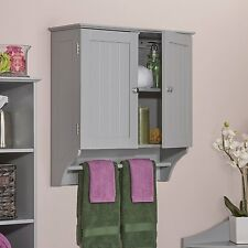 RiverRidge Home Products Ashland Collection 2-door Wall Cabinet Gray