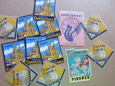 lot of European Hotel Luggage Travel Ephemera Luggage Suitcase Stickers Decals