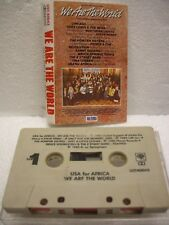 """U.S.A. FOR AFRICA """"WE ARE THE WORLD"""" 1985 MUSIC TAPE  WORLD MUSIC ALBUM CLASSIC"""
