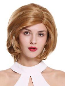 Ladies' Wig Teil-Monofilament Parting Short Wavy Blonde Mix Highlights