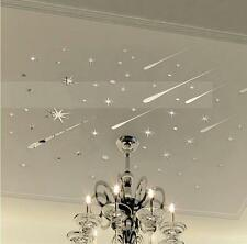 Star Meteor Acrylic Mirror Wall Home Decal Art Room Ceiling Vinyl Stickers