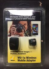 Nikon WU-1a Wireless Mobile Adapter for D7100 D5200 D3200 D3300 S2 etc BRAND NEW
