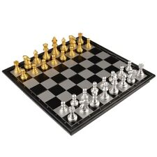 Silver And Gold Game Classic Competition Play Magnetic Travel Chess Board Set US