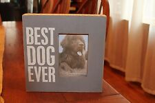 "Primitives by Kathy ""Best Dog Ever"" Box Sign and Photo Holder"