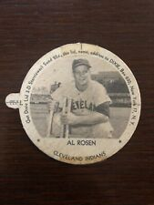 1954 Dixie Lid Meadow Gold Ice Cream Al Rosen Jewish Left Tab Cleveland Indians