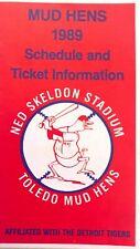 1989 Toledo Mud Hens Pocket Schedule