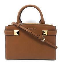 6e49e5231f38 MICHAEL KORS KARLA Luggage SAFFIANO LEATHER SMALL SATCHEL CROSSBODY BAG