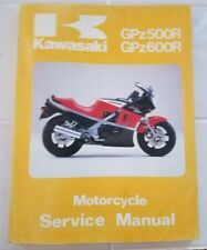 OEM Kawasak Motorcyclei Service Shop Manual GPZ500R GPZ600R