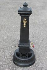 FONTANA IN GHISA  MODELLO MILANO ALTA H 110 CMcon 2 rubinettI da GIARDINO